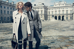 Lara Stone & Jon Kortajarena for Jaeger London Autumn/Winter 09