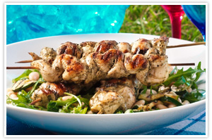 Barbecued Pesto Chicken