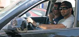 Brad Pitt gets a lift with a pap