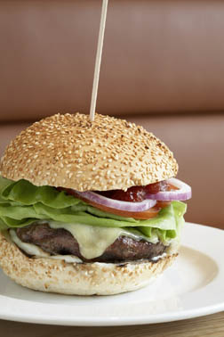 Enjoy a burger at GBK