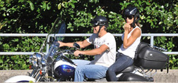 George and Elisabetta go for a ride
