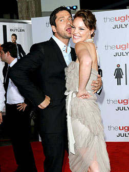 Gerard Butler & Katherine Heigl on the red carpet