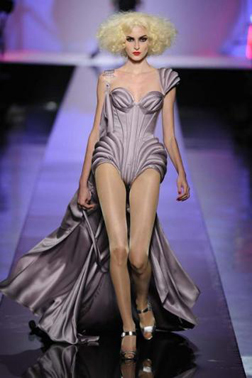 On the catwalk at Jean-Paul Gaultier