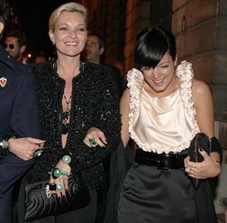Kate Moss and Lily Allen