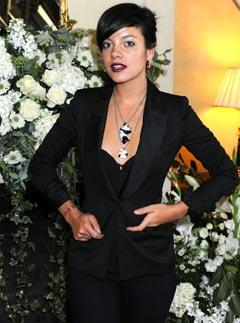 Lily Allen at Claridge's for the launch of her new Jewellery Collection