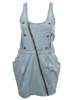Miss Selfridge diagonal zip front denim dress £45