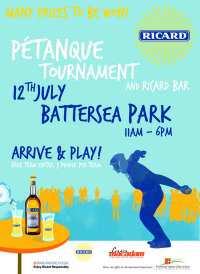 This weekend head over to the Ricard Petanque Tournament