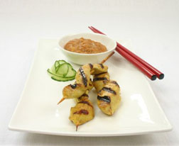 Chicken Satay with a Crunchy Peanut Sauce