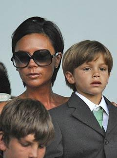 Victoria Beckham watches David play over the weekend