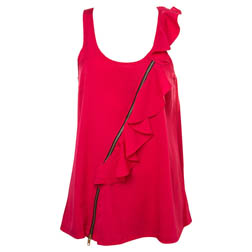 Asymmetric Frill Zip Vest, £28 From Topshop