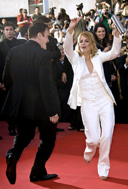 Melanie dancing with Quentin Tarantino at Cannes