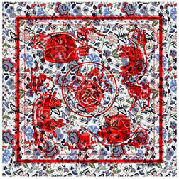 Limited Edition Hermes & Liberty Print Scarf