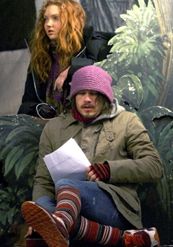 Lily Cole & Heath Ledger on the set of The Imaginarium of Doctor Parnassus