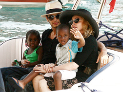 Madonna with Jesus and the kids