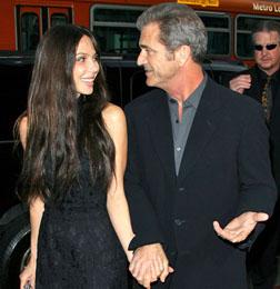 Mel Gibson with Oksana