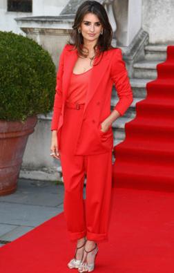 Penelope Cruz in a Bottega Veneta trouser suit