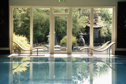 Relax in the pool at Carey's Manor & SenSpa