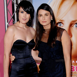 Rumer with mother Demi Moore