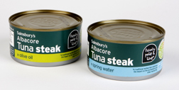 Look for the distinctive blue MSC eco-label on cans of American Albacore Tuna.