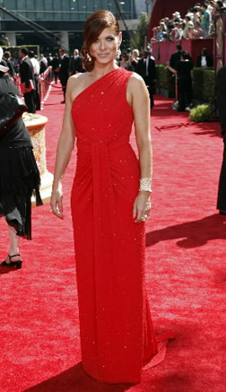Debra Messing at the Emmys