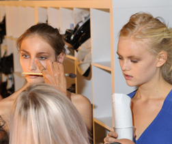 Artists used MAC make-up to create the look