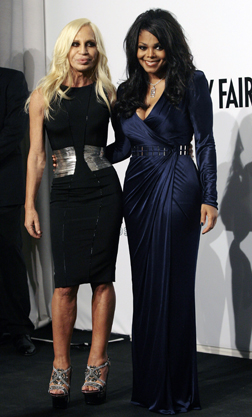 Janet Jackson with Donatella Versace