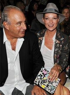 Kate Moss on the Front Row With Philip Green
