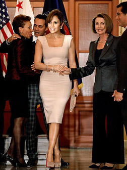 Jennifer Lopez in a Victoria Beckham dress
