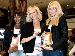 Naomi Campbell, Eva Herzigova and Claudia Schiffer