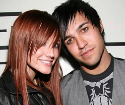 Ashley Simpson and Pete Wentz