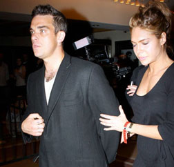 Robbie Williams with Ayda Field