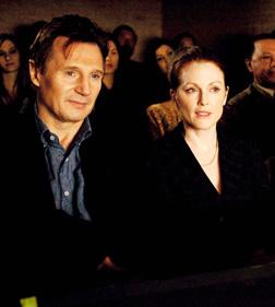 Julianne with Liam Neeson in Chloe