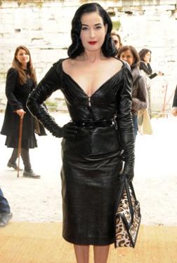 Dita Von Teese at Dior