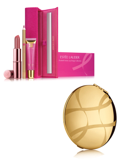 Elizabeth Hurley Lip Collection and Pink Ribbon Mirror Compact