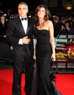 George with Elisabetta Canalis