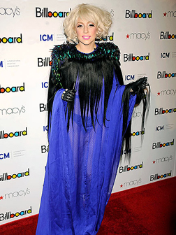 Lady Gaga at the Billboard's Fourth Annual Women in Music Event