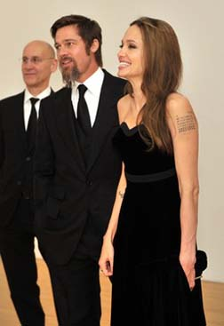 Brad and Angelina at the MOCA party