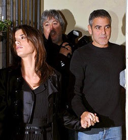 Elisabetta Canalis with George Clooney