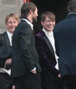 Mark Owen & Howard Donald Outside the Church