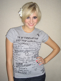 Pixie Lott Wearing Moschino T-Shirt
