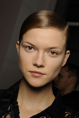Jil Sander opted for 80's hair on the runway