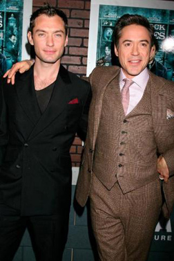 Jude Law & Robert Downey Jr at the Premiere of Sherlock Holmes