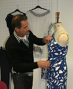 Ben di Lisi at work on his collection for Principles