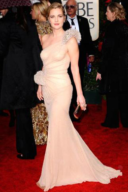 Drew Barrymore wore an Atelier Versace gown