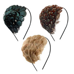 Feather headpieces from Rock 'n' Rose
