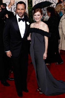 Tom Ford &amp; Julianne Moore at the Golden Globes 2010 