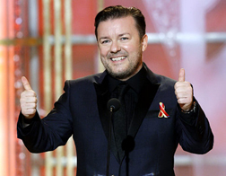 Ricky Gervais presents the 67th Annual Golden Globe Awards 