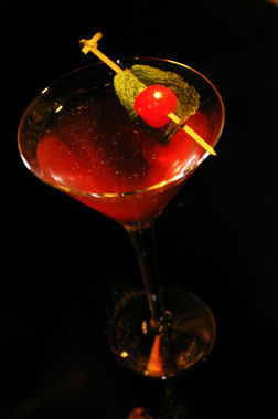 Cherry Tea Martini