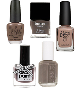 Taupe Coloured Nail Polish for S/S