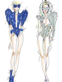<b>Gaga's Designer Tour...</b>